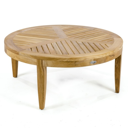 40 in round teak coffee tables