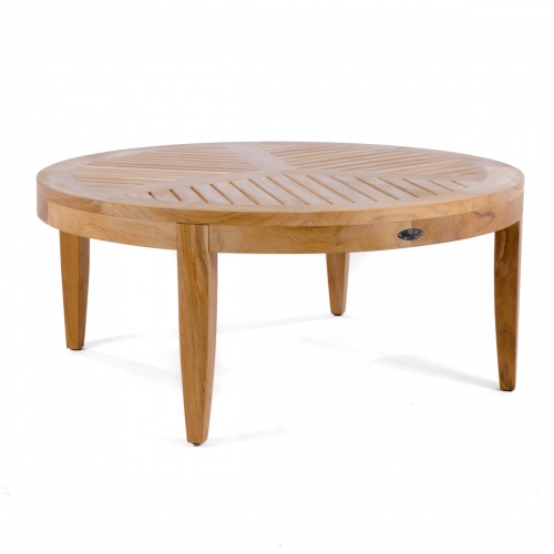 Laguna Teak Round Coffee and Sofa Table - Picture A