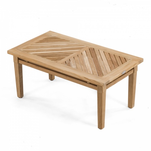 brighton teak patio coffee table - westminster teak outdoor furniture