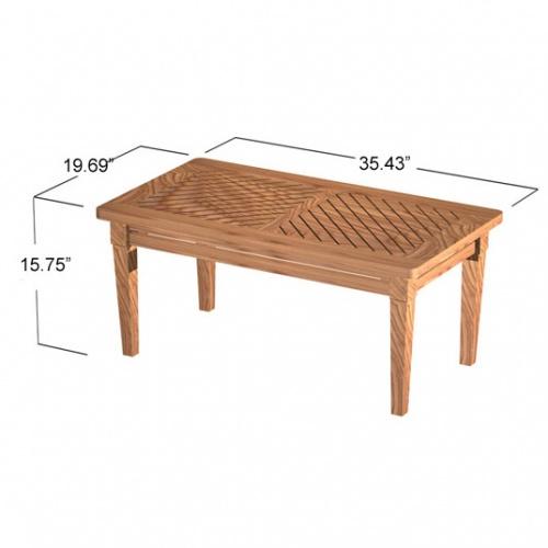 3 foot teak coffee tables