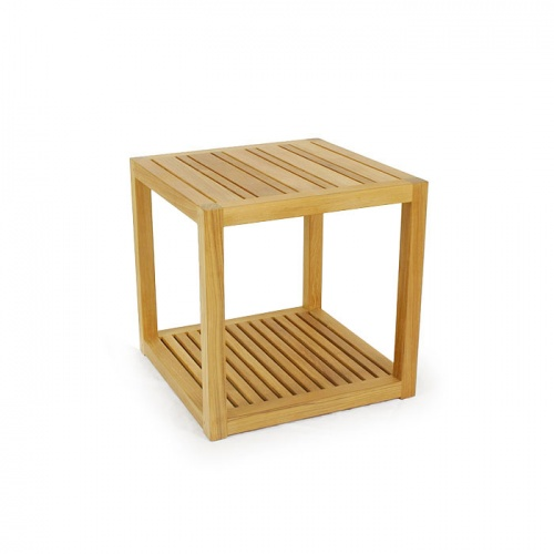 outdoor teak side table