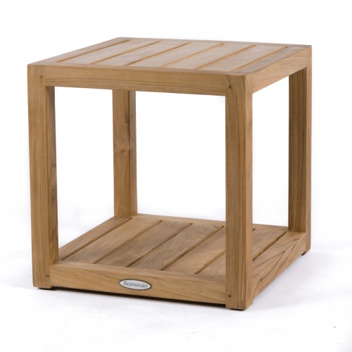 outdoor teak wood end tables