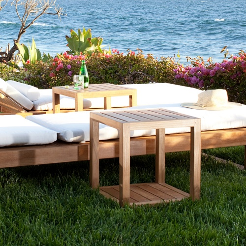 outdoor teak side tables