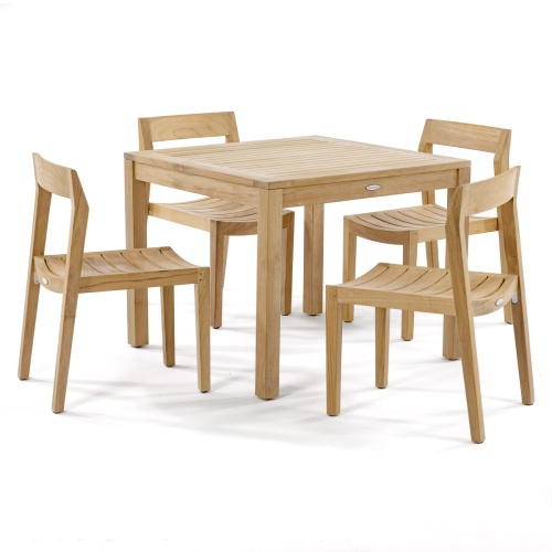 square teak dining tables