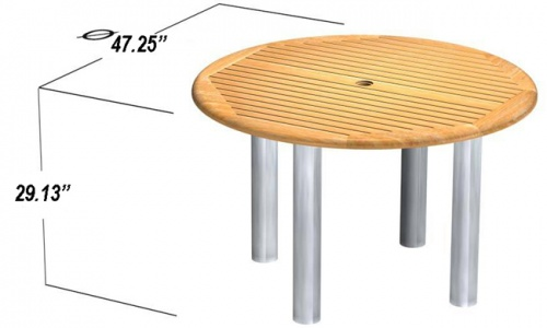 Westminster Teak 4 FT Round Gemini Table Clearance - Picture C