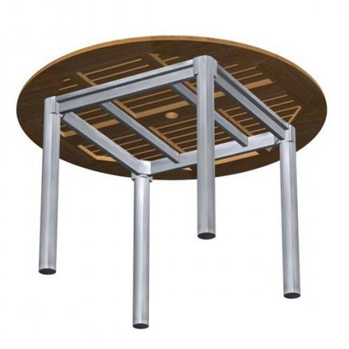 Teak Aluminum Table - Picture C