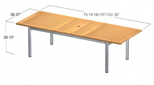 Teak Aluminum Table - Picture E