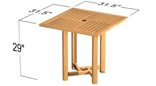 Teak Commercial Dining Table - Picture D