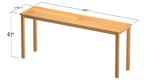 Commercial Teak Table - Picture C