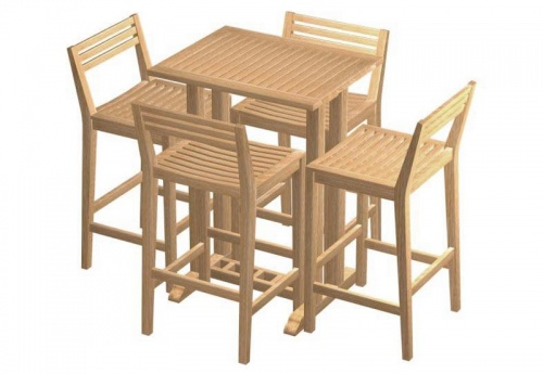 Commercial Teak Table - Picture D