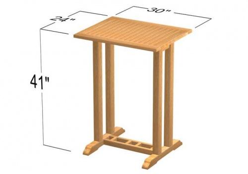 Commercial Teak Table - Picture E