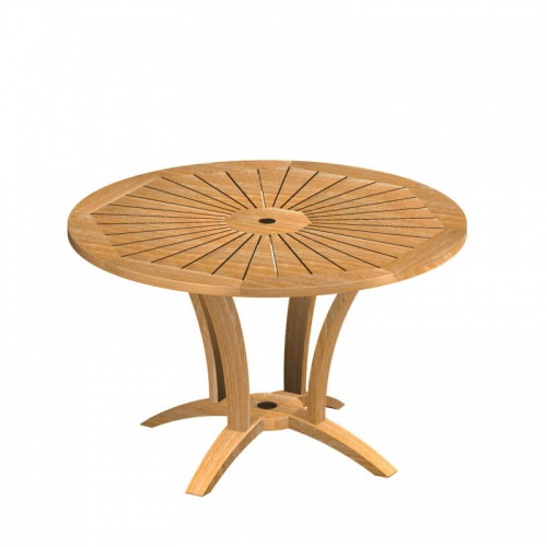 Teak Round Table - Picture C