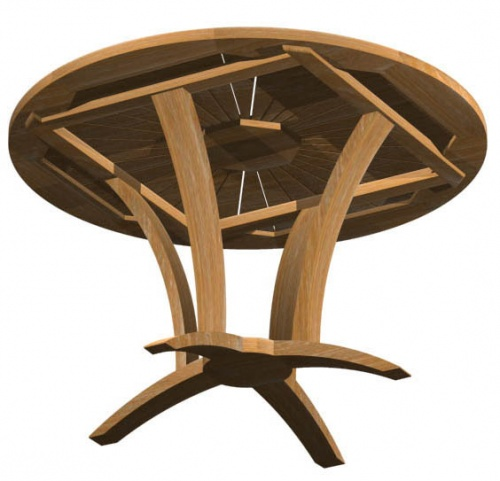 Teak Round Table - Picture E