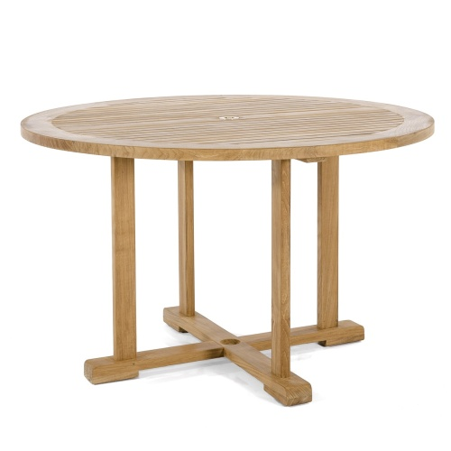 outdoor round teak dining tables
