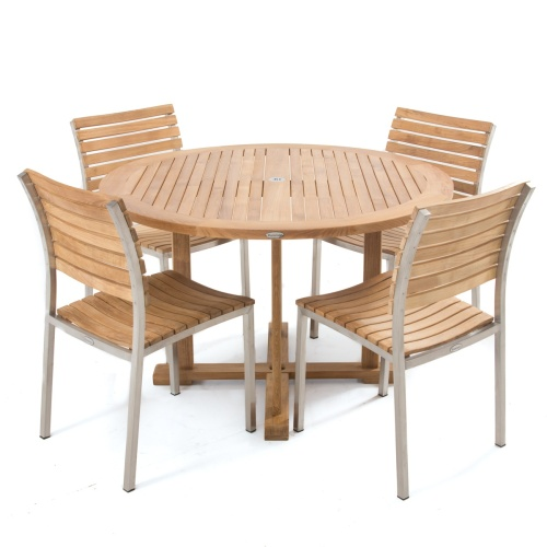 48 in Round Teak Table - Picture K