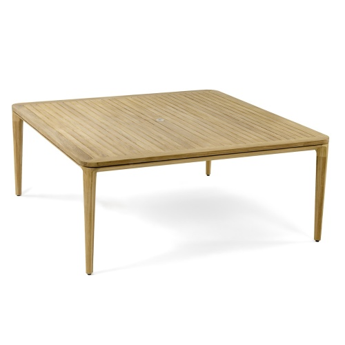 Pyramid 6 Foot Square Teak Outdoor Dining Table - Picture A