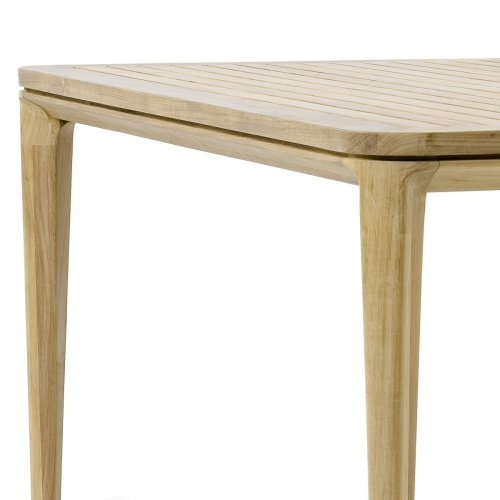 Pyramid 6 Foot Square Teak Outdoor Dining Table - Picture D