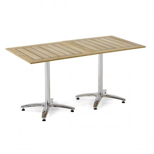 Vogue Square Teak Tabletop | 36 x 36 - Picture C