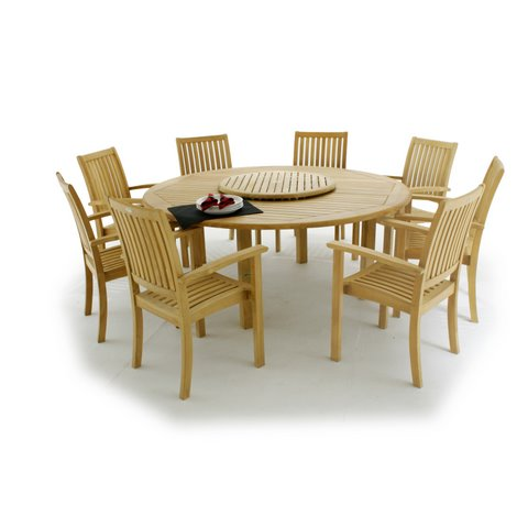Buckingham 2006 6ft Teak Round Patio Table Clearan - Picture B