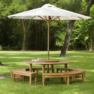 Buckingham 2006 6ft Teak Round Patio Table Clearan - Picture C