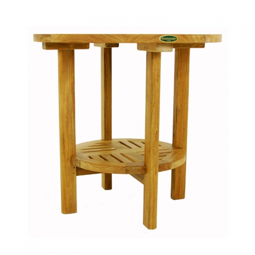 Teak Round End Side Table - Picture B