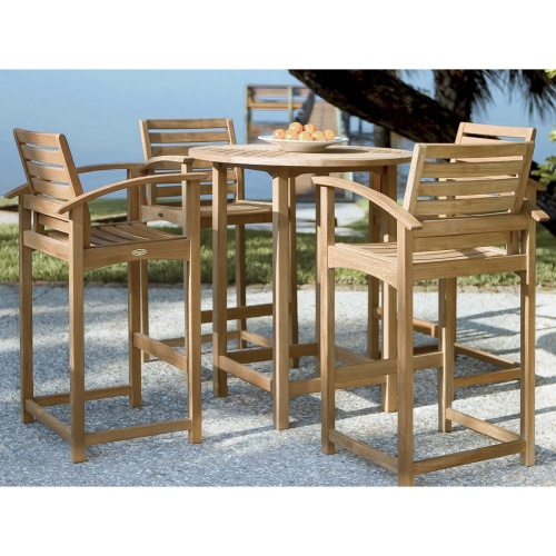 teak outdoor high bar tables