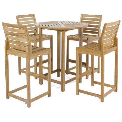 teak outdoor high bar tables