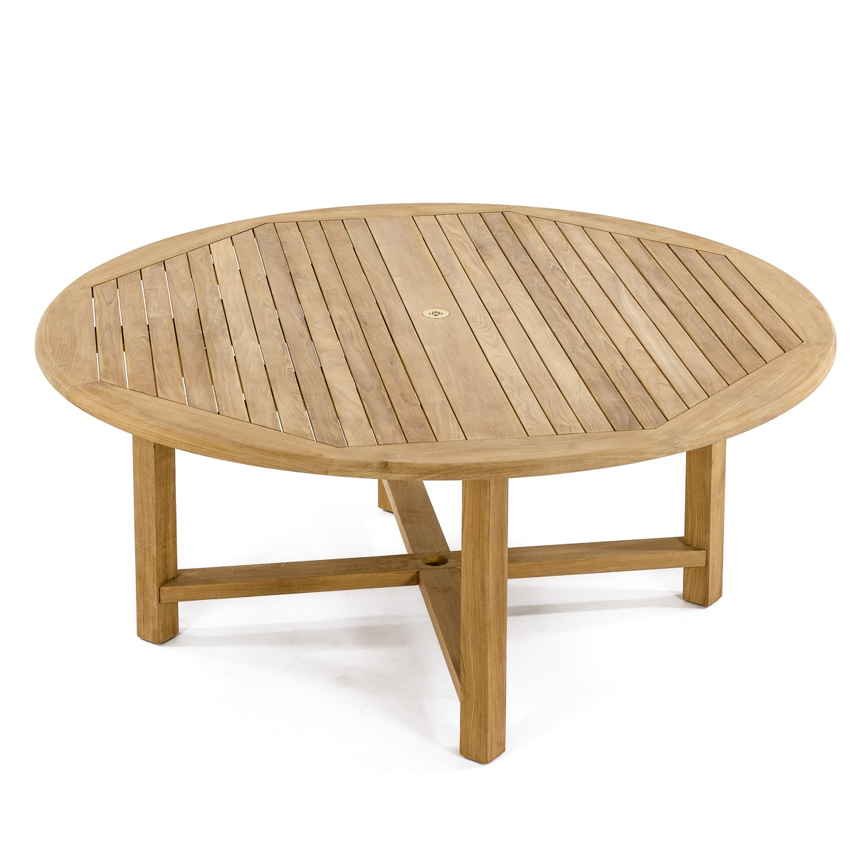 Buckingham 6 Foot Diameter Round Teak Outdoor Tab