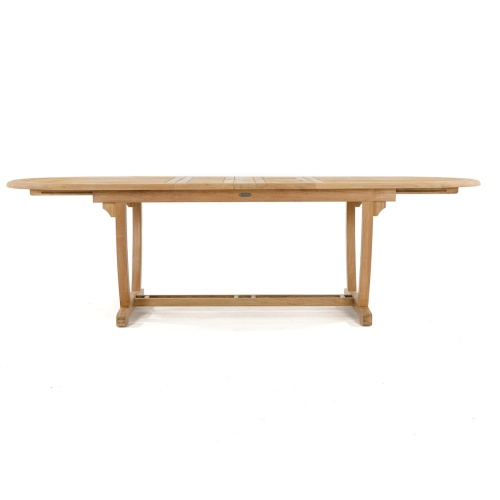 oval teak tables expanding