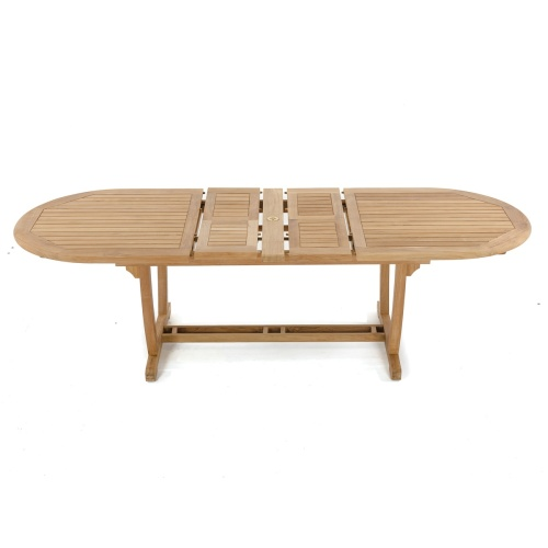 Montserrat Teak Extendable Oval Dining Table - Picture L