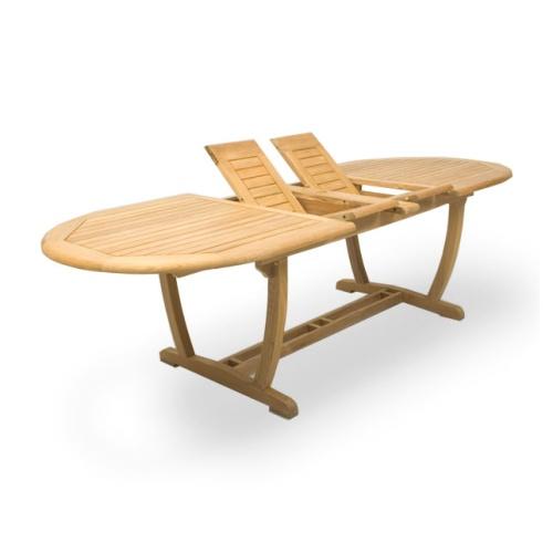 Montserrat Veranda Large Teak Extension Oval Table - Picture A