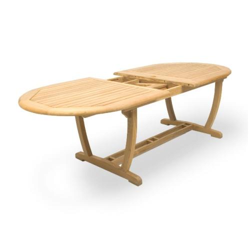 Montserrat Veranda Large Teak Extension Oval Table - Picture D