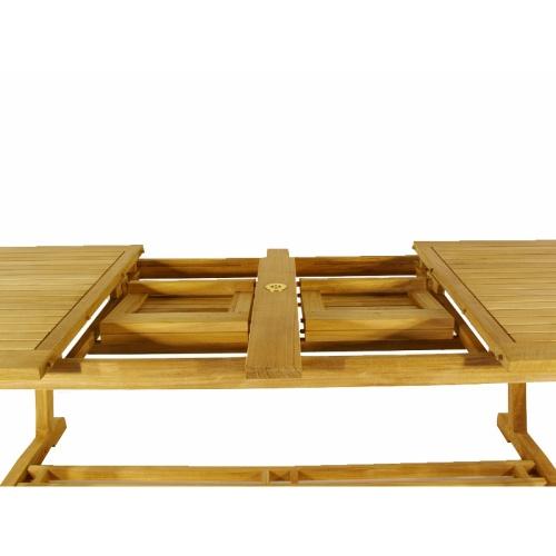 Montserrat Veranda Large Teak Extension Oval Table - Picture G