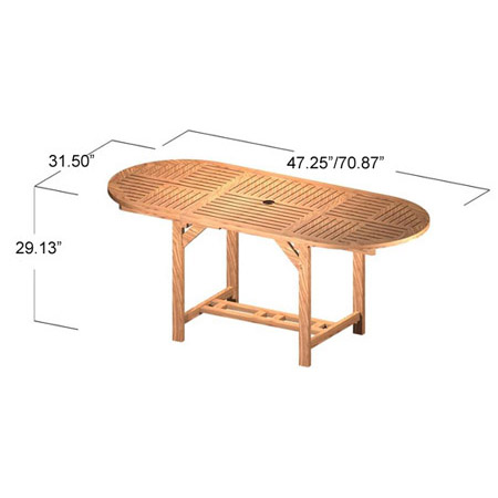 Alicante Extension Oval Table - Picture G