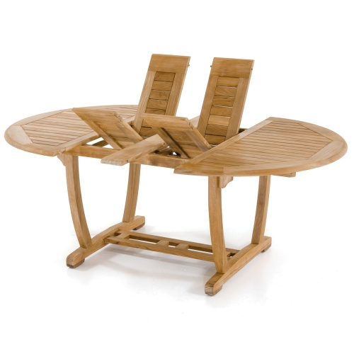 sturdy wooden table oval