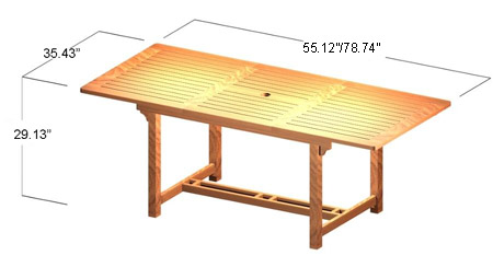 Cayman Ext Table - Picture D