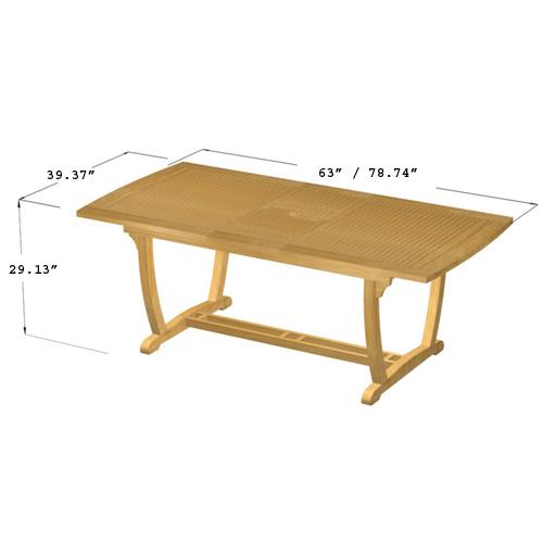 Cayman Veranda Extendable Table - Picture G
