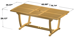 Milan Extendable Table - Picture G