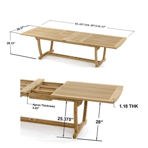 Veranda Teak Table - Picture K