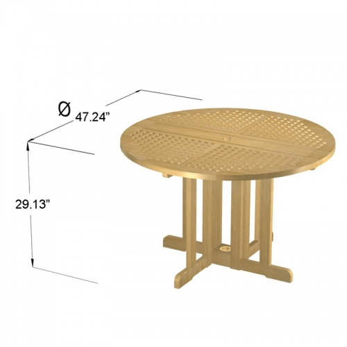 Chequer Folding Table - Picture E