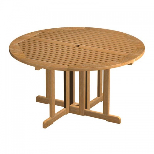 teak folding table - Picture A