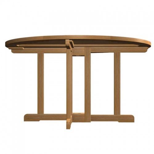teak folding table - Picture B