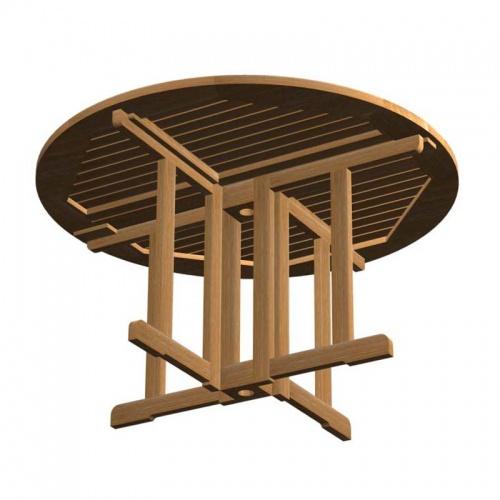 teak folding table - Picture C