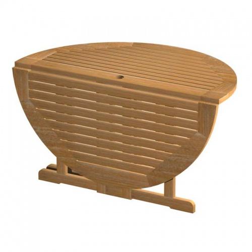 teak folding table - Picture D