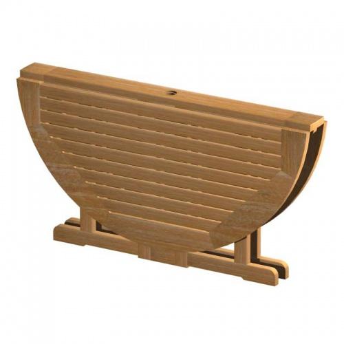teak folding table - Picture E