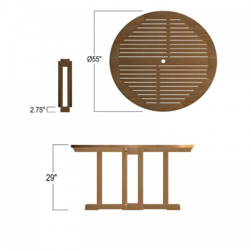 teak folding table - Picture F