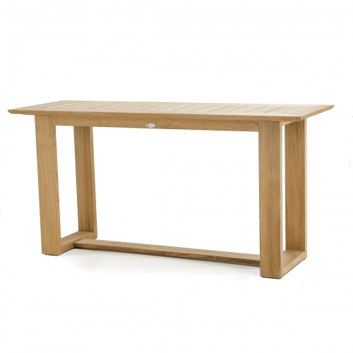 long teak console tables