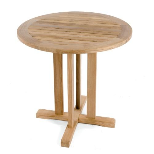 round teak tables