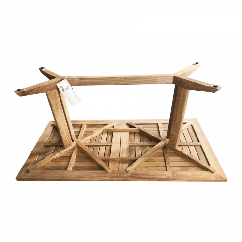 6 ft Pyramid Teak Table - Picture N