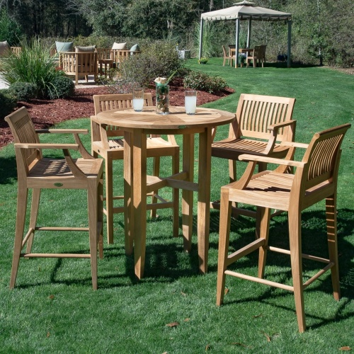 high 36 inch round bar tables